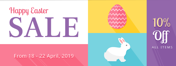 Happy Easter SALE! Get 10% OFF all items!